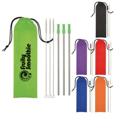 3- Pack Stainless Steel Straw Kit