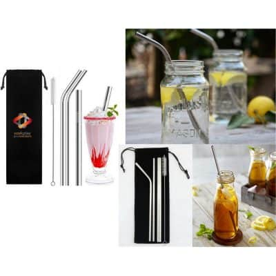Straws With Velvet Bag
