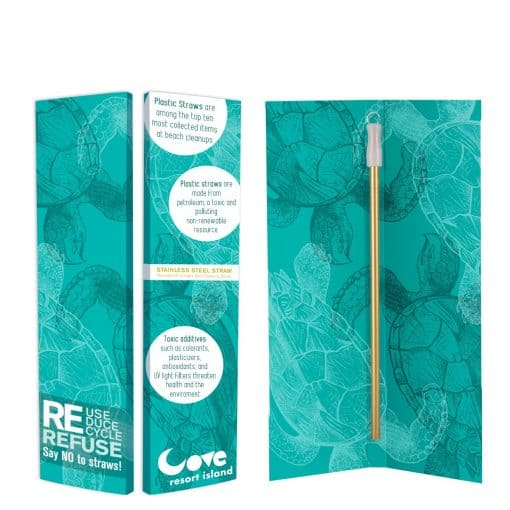 Zagabook With Park Avenue Stainless Steel Straw